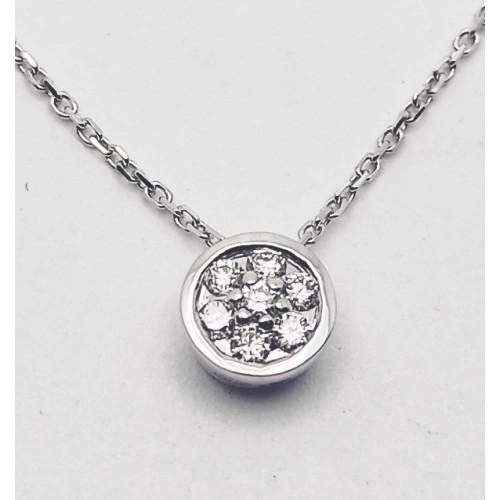 Gargantilla Oro Con Diamantes - 297-1647-1CB